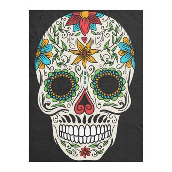 Day of the Dead Sugar Skull Fleece Blanket