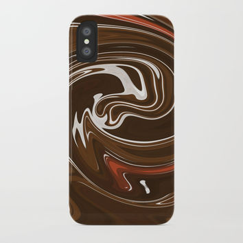 Chocolate pudding iPhone Case by Printerium