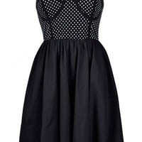 SPOTTY TOP SKATER DRESS