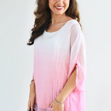 Sheer Ombre Poncho