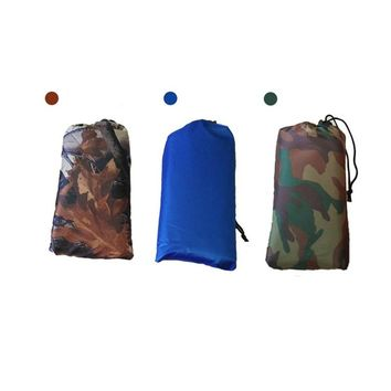 3 In 1 Multi-purpose Raincoat Backpack Cover Rain Poncho Thickened Outdoor Climbing Camouflage Floor Seat rain poncho Camping 11
