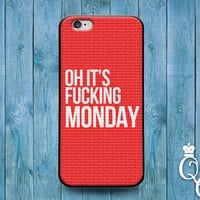 iPhone 4 4s 5 5s 5c 6 6s plus iPod Touch 4th 5th 6th Generation Cute Custom Movie Tv Quote Cover Red White Funny Case of the Mondays Joke