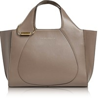 Victoria Beckham Dove Grey Leather Small Newspaper Tote Bag
