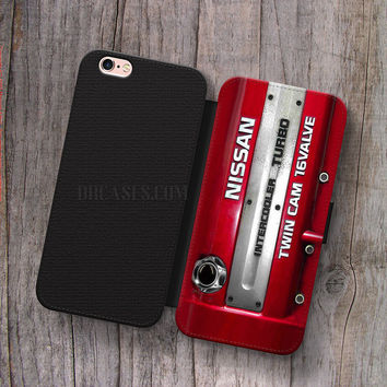 Wallet Leather Case for iPhone 4s 5s 5C SE 6S Plus Case, Samsung S3 S4 S5 S6 S7 Edge Note 3 4 5 NISSAN INTERCOOLER TURBO twin cam 16 valve Cases
