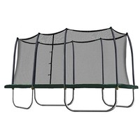 Skywalker 14-ft. Rectangle Trampoline with Enclosure (Green)