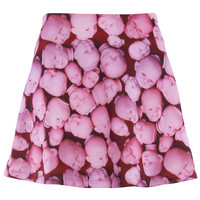 ROMWE | Halloween Doll's Head Print Skirt, The Latest Street Fashion