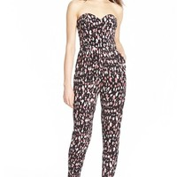 Women's Lovers + Friends 'Dakota' Animal Print Jumpsuit,