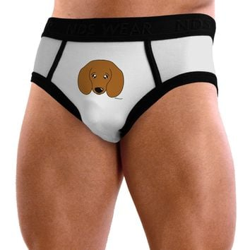 Cute Doxie Dachshund Dog Mens NDS Wear Briefs Underwear by TooLoud