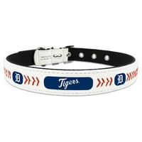 Detroit Tigers Leather Baseball Collar