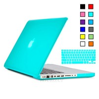 "iBenzer 2 in 1 Soft-Touch Plastic Hard Back Case with Keyboard Cover for Macbook Pro 13"" - Turquoise"