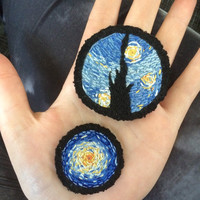 MADE TO ORDER Starry Night Art Patch Vincent van by artclubpatches