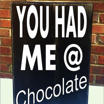 Chocolate Lovers  Mini Distressed Wood Sign Housewares Home Decor Gift