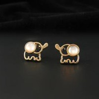 Cute Elephant Studs by forevervintage on Zibbet