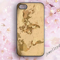 Classic World Map iPhone 5/5s Case,Antique Map  iPhone 4/4s case,iPhone 5c case,World Drawing Samsung Galaxy S4 S5,Globe iPhone Cover