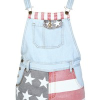 American Flag Denim Dungaree - Womens Clothing Sale, Womens Fashion, Cheap Clothes Online | Miss Rebel