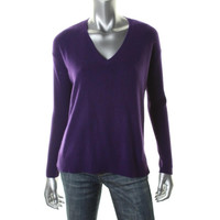 Ralph Lauren Womens Cashmere Ribbed Pullover Sweater