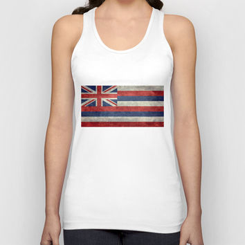 The State flag of Hawaii - Vintage version Unisex Tank Top by Bruce Stanfield