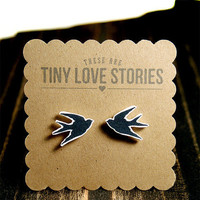 Swallows Earrings from Tiny Love Stories