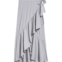 H&M Flounced Wrap-front Skirt $29.99