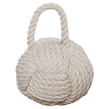 "6"" Rope Monkey Fist, White, Starbursts, Orbs, Geodesic Objets"