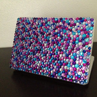 Clear pink blue and purple MacBook Pro case