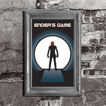 Ender's Game - Enders Game Inspired - Orson Scott Card - Movie / Book Art Poster