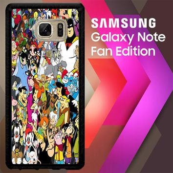 90S Cartoon Caracter 2 V0627 Samsung Galaxy Note FE Fan Edition Case