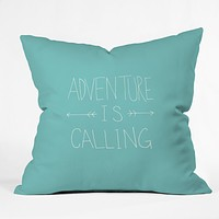 Leah Flores Adventure Typography Throw Pillow