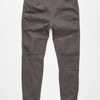 Brooklyn Cloth Moto Mens Twill Jogger Pants Charcoal  In Sizes