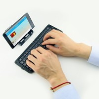 """PTATOMS Ultra Slim 5.9"""" Foldable Pocket Keyboard Mini Wireless Bluetooth V3.0 Keyboard with Tablet Holder Support Mac IOS, Windows, Android2.3.3 System Above, Apple ipad, ipod touch, Microsoft System as iphone 4 / 4S / 5 / 5C / 5S / 6 / 6 Plus, iPad Air/ i"""