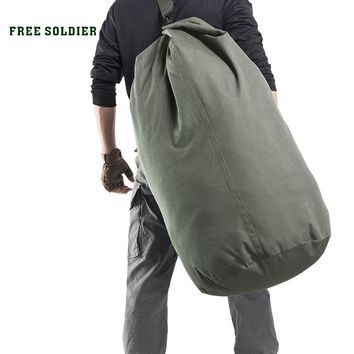 FREE SOLDIER outdoor sports tactical 100L large capacity Men backpack for camping ,hiking Collapsible bag