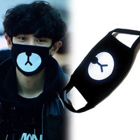 New Arrival EXO Chanyeol Chan yeol Same Style Lucky Bear Black Mouth Mask Kpop Hottest