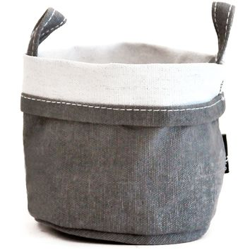 Waxed Ash Recycled Canvas Bucket