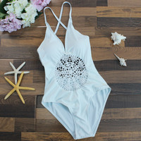 Hollow Bikini Set One Piece Swimsuit Beach Bathing Suits