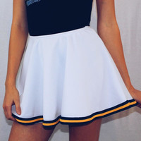 Navy & Gold Classic Skirt