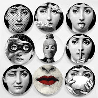 Hot sale Piero Fornasetti plates beauty illustration hanging decorative craft di