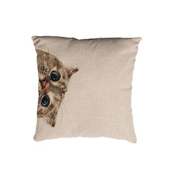 Euro Cat Pillow Cover for Throw Pillows