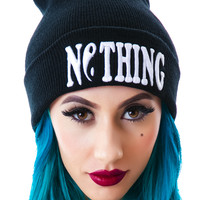 Bad Acid Nothing Beanie Black One