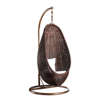 Rattan Hanging Chair Pod with Stand