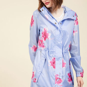 The Showers That Be Raincoat in Orchids