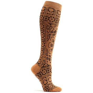 Floral Mosaic Knee High Sock
