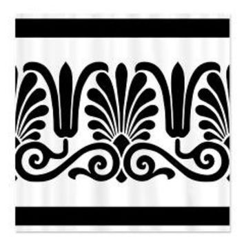 Black and White Floral Design Shower Curtain> Shower Curtains> We Tees You