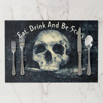 Halloween Horror Skull Placemat