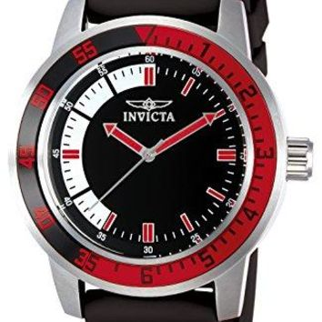 Invicta Specialty Black Dial Watch with Red/Black Bezel