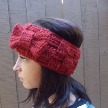Crochet Headband - Basket Weave Headband - Headband With Bow - Fashion Trends