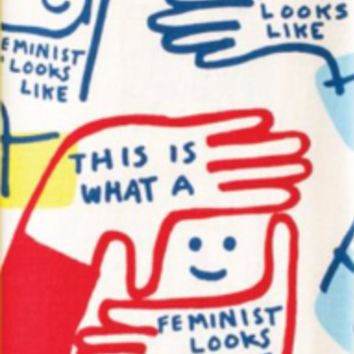 This Is What a Feminist Looks Like Dish Towel in Red White and Blue