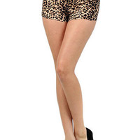 Cheetah Summer Shorts with Zipper  | OnlyLeggings.com