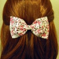 Amazon.com: Cherry Blossom Floral Hair Bow Barrette: Beauty