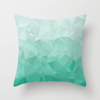green Throw Pillow by Rocofi