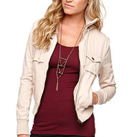 LA Hearts Hooded Twill Bomber Jacket at PacSun.com